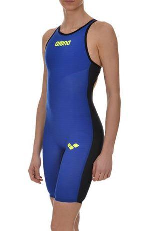 Arena Carbon AIR Full Body Short Leg open Back femmes Powerskin combinaison natation By Arena