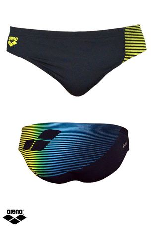 Arena Boys Swim Brief Diagonal Stripe Trunk