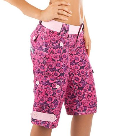 reputable site 5bb56 81a0a Bermuda beach shorts for women Roses By Mad Wave