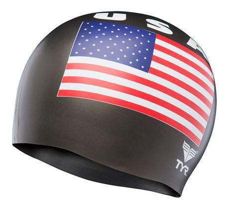 BKSR Swim Cap USA black